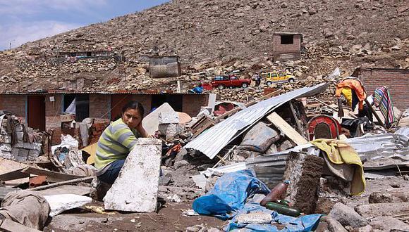 A nivel nacional, unas 177 viviendas colapsaron, según Indeci. (Perú21)