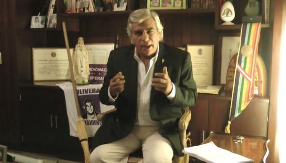 Fernando Olivera promete seguir luchando contra la corrupción. (Captura YouTube)