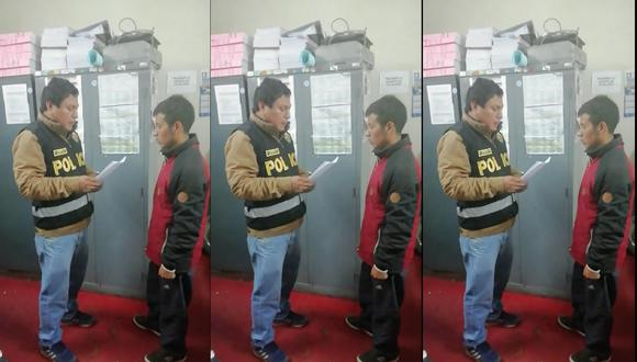 Fernando Garzón Choque fue puesto a disposición de la Policía Judicial de Ayacucho.