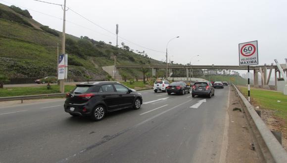 Ahora las velocidades máximas oscilarán de 40 y 60 kilómetros por hora (km/h), antes era de 60 y 80km/h. (Foto: Municipalidad de Lima)