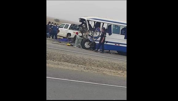 Lambayeque: El siniestro también dejó otros pasajeros con lesiones graves, por lo que fueron trasladados a los establecimientos de salud más cercanos. (Foto: Difusión)