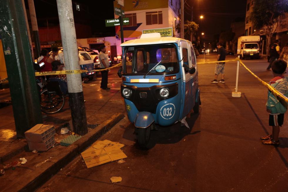 Un hombre fue baleado por sujetos que iban a bordo de una moto la noche del martes. (Foto: Kelvin García)