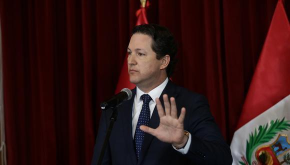 """Salaverry dijo que tras la presentación de una moción de censura en su contra por parte de Fuerza Popular, su permanencia en esa bancada es """"insostenible"""". (GEC)"""