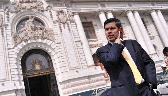 """""""Dentro de dos semanas evaluaremos el tema de las precandidaturas al Congreso y a las vicepresidencias"""", señaló Luis Galarreta. (Foto: GEC)"""