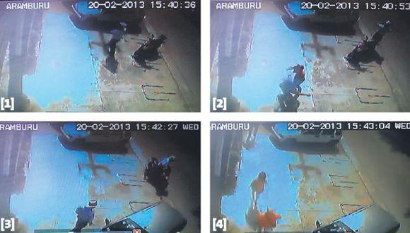 FUGA DE HAMPONES. 'Marcas' huyeron en un auto Mitsubishi crema. (Perú21)