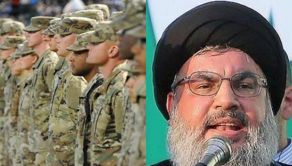 """Líder de Hizbulá sobre fuerzas de Estados Unidos: """"Deben marcharse vivas o muertas"""". (Composición)"""