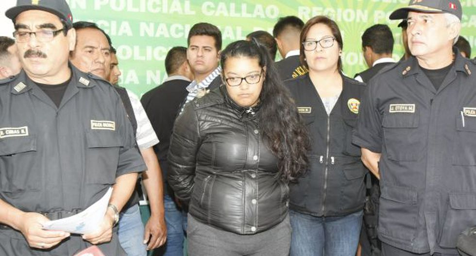 En manos de juez. Gisell Rosales quedó detenida en la carceleta del Poder Judicial del Callao. (Kelvin García/USI)
