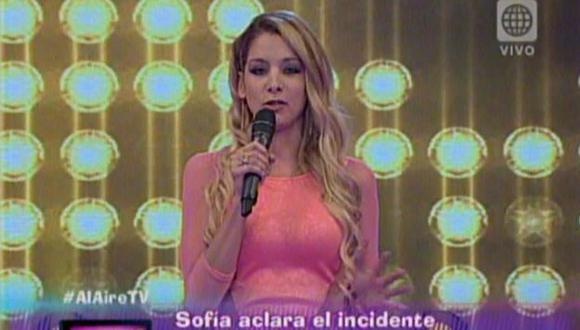 Sofía Franco ofreció disculpas por bronca con Silvia Cornejo en Al Aire. (América Televisión)