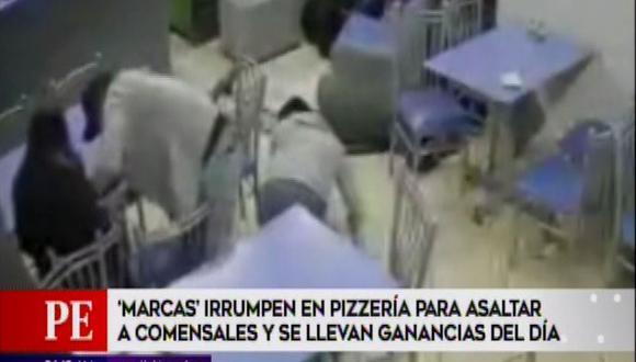 Delincuentes armados asaltan pizzería en Villa El Salvador