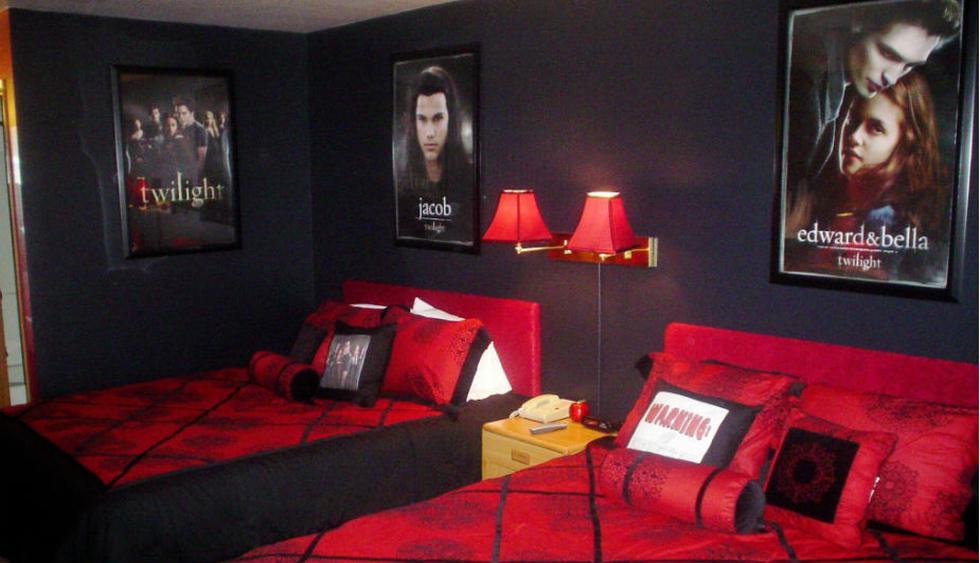 Foto: Pacific Inn Hotel. Habitación inspirada en la saga Crepúsculo