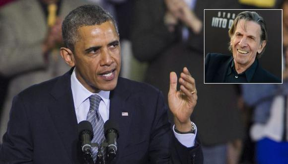 Barack Obama lamentó la muerte de Leonard Nimoy. (EFE/AP)