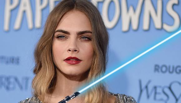 Star Wars: Cara Delevingne mostró su fanatismo por la saga. (Getty)