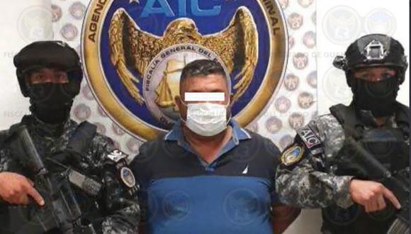 Adán Ochoa, sucesor del capo José Antonio Yépez, el Marro, fue detenido este miércoles en la ciudad de Celaya. (Foto: Twitter / @FGEGUANAJUATO)