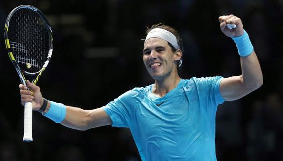 Nadal venció al suizo Wawrinkas y pasó a semifinales del Masters de Londres. (AP)