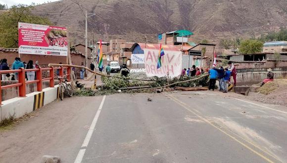 Caos.Las principales vías de acceso a la Ciudad Imperial también serán cerradas hoy. (Juan Carlos Sequeiros)