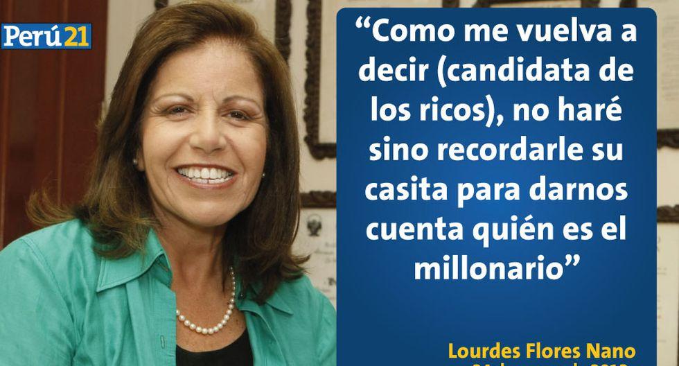 Las 10 frases en la historia de Lourdes Flores sobre Alan García