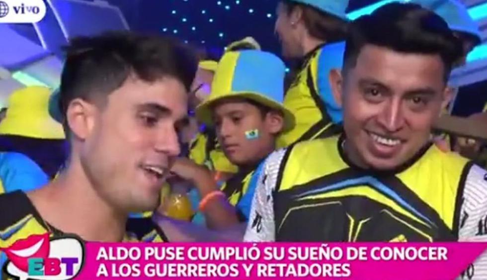 'Guerreros' cumplen el sueño de joven estafado al incorporarlo al reality. (Captura América TV)