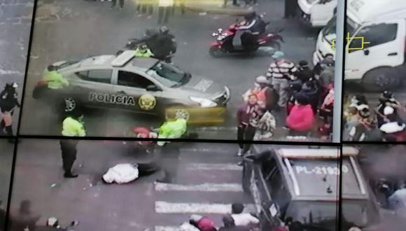El momento de la captura de los delincuentes: (Captura de video de la PNP)