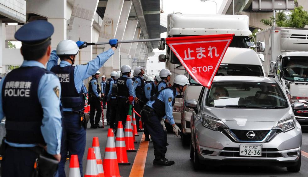 Fuertes medidas de seguridad a horas de la cumbre del G20 en Osaka. (Foto: EFE)