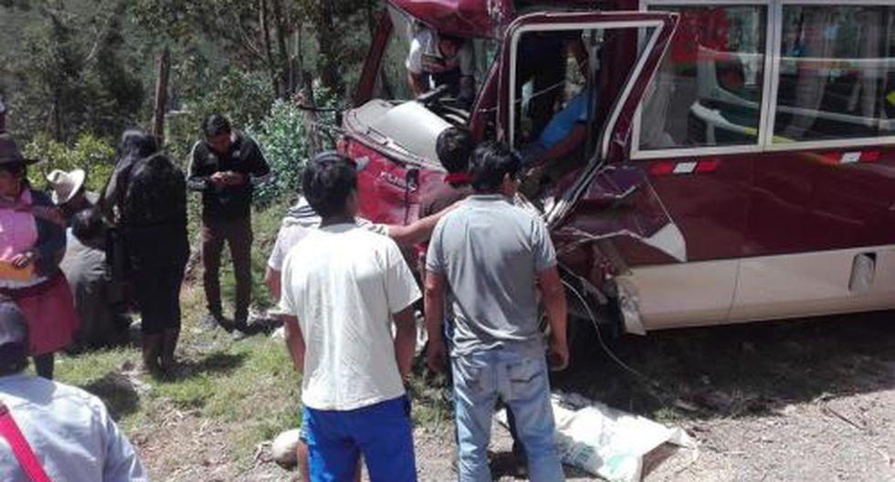 Triple choque deja 8 heridos en la carretera a Carhuaz, en Áncash. (Foto: Andina)
