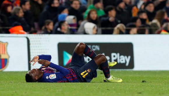 Ousmane Dembélé fue reemplazado por Malcom en el minuto 69 del partido (Foto: Reuters).