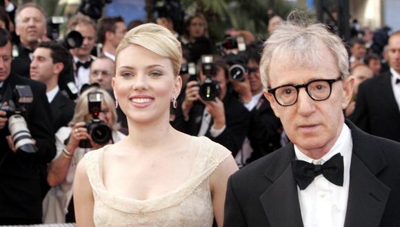 Scarlett Johansson defendió a Woody Allen en denuncia por violación sexual que le hizo su hijastra, Dylan Farrow.   Getty
