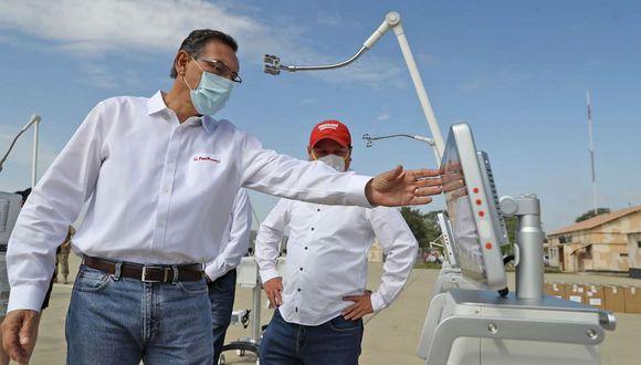 Martín Vizcarra recordó que las prioridades del gobierno son la lucha contra el coronavirus, la economía y fortalecer la democracia. (Foto: Presidencia)