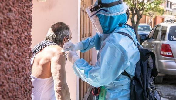 Arequipa: adultos mayores fueron vacunados contra la influenza y el neumococo (Foto difusión).
