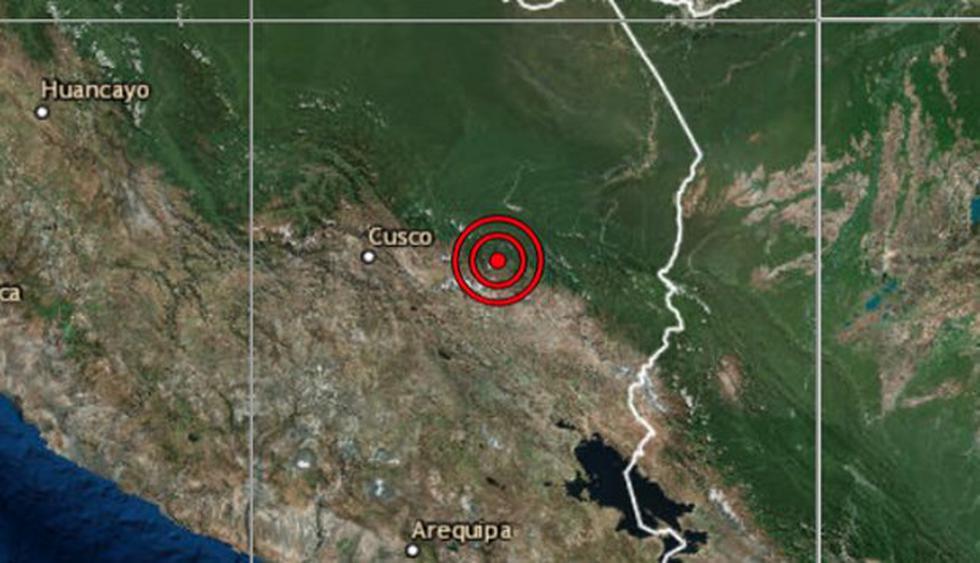 El sismo ocurrió a una profundidad de 16 km., reportó el IGP. (Captura: IGP)<br>