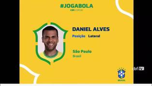 Brasil convoca a Dani Alves para Juegos Olímpicos de Tokio 2020