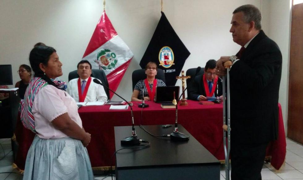 Convocan plantón en solidaridad con Ysabel Rodriguez, testigo en caso Hugo Bustíos. (Twitter/Poder Judicial)