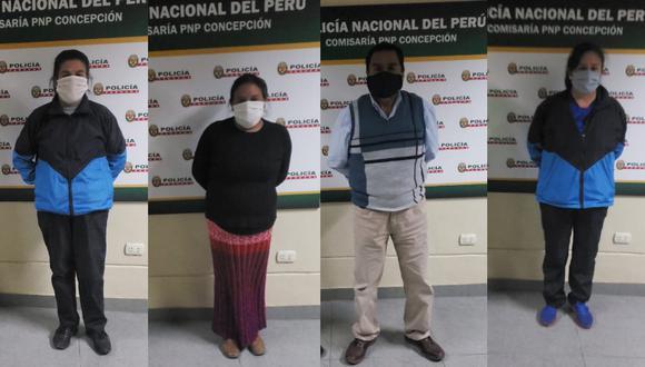 Detienen a un grupo de profesores que bebían licor dentro de colegio, donde se reunieron, supuestamente, para coordinar sus clases virtuales. (Foto PNP)
