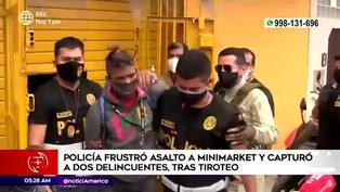SMP: Policías frustran asalto a minimarket tras intenso enfrentamiento