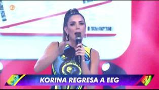 EEG: Korina Rivadeneira vuelve a la competencia