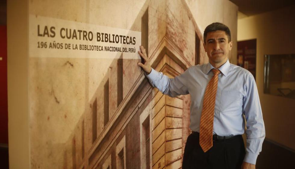 Alejandro Neyra, actual director de la Biblioteca Nacional del Perú. Foto: Renzo Salazar.