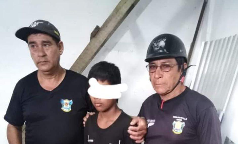 Vecinos capturaron al menor y lo entregaron a las autoridades. (Serenazgo de Masusa)