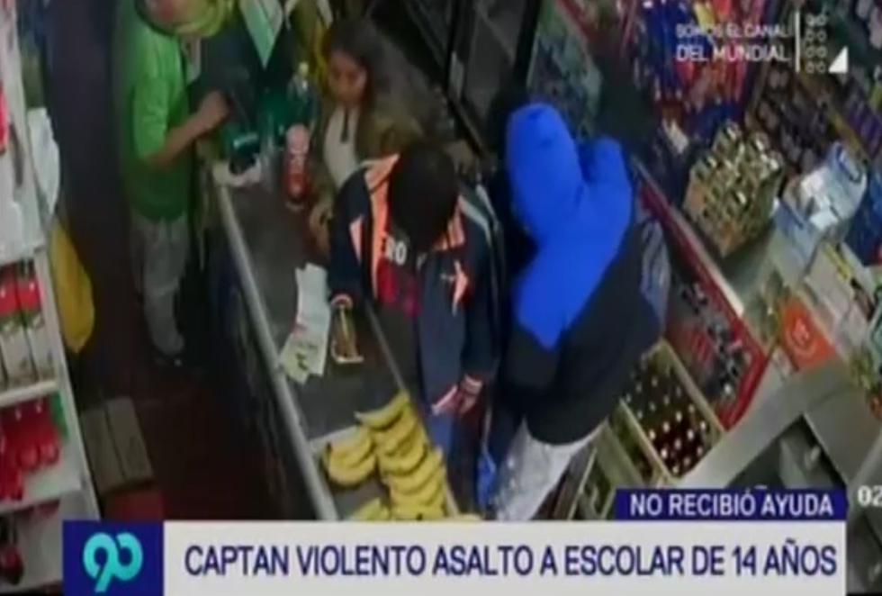 Cámaras de seguridad captan violento asalto a escolar de 14 años en Breña. (Latina)