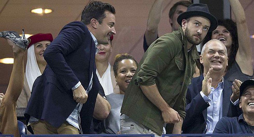Jimmy Fallon y Justin Timberlake bailaron 'Single Ladies' en el US Open. (Reuters)