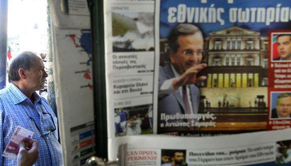 """En repetidas ocasiones Samaras manifestó que el plan de austeridad """"ahogó al país"""". (AP)"""