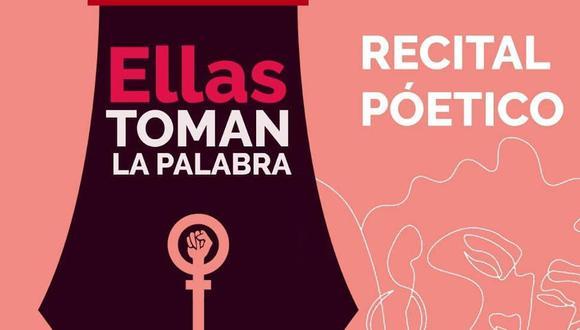 El evento será transmitido por Facebook Live de la asociación cultural Urbanotopia (Foto: Ellas toman la palabra)