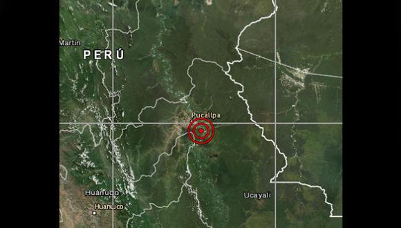 Este movimiento telúrico se registró a 23 km al sureste de Pucallpa, Coronel Portillo - Ucayali y a 128 kilómetros de profundidad. (Foto: IGP)