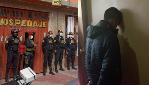 Juliaca: Capturan a suboficial PNP en hospedaje tras ser acusado de ultrajar a menor de 7 años (Foto: PNP)