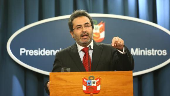 Premier pide calma a la CGTP. (Rafael Cornejo)