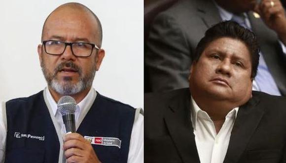 Ministro de Salud manifestó que investigación determinará  por qué murió exlegislador Glider Ushñahua. (Composición)