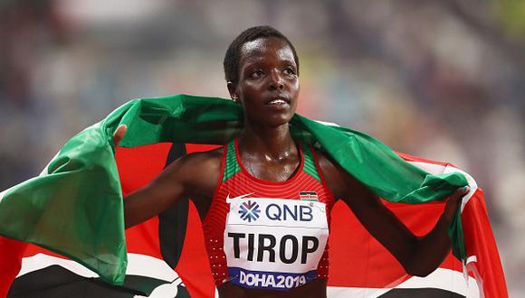 Reconocida atleta keniana fue encontrada muerta en su vivienda, el sospechoso del crimen es su esposo.(Photo by Alexander Hassenstein/Getty Images for IAAF)