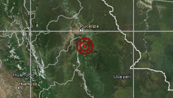 Sismo se registró en Pucallpa, en la región Ucayali (Foto: IGP)