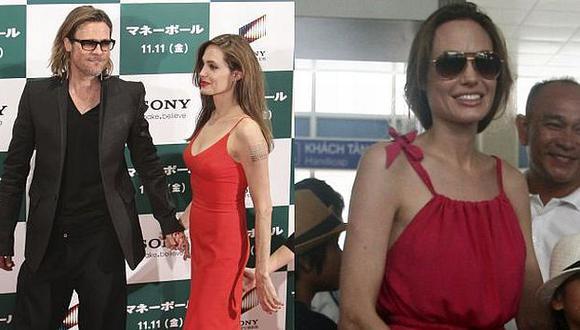Jolie lucía así hace unos días. Una revista dice que ella pesa 44 kilos. (AP/Reuters)