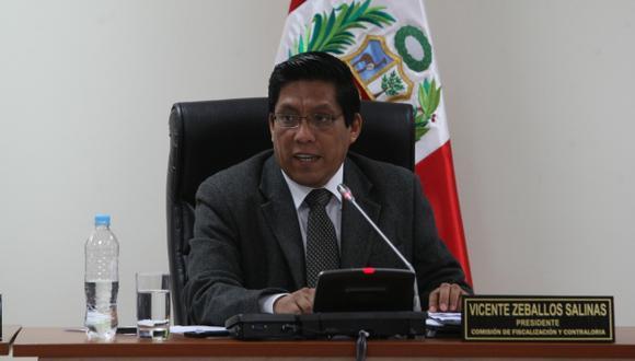 El congresista Vicente Zeballos busca defender el fuero parlamentario. (Nancy Dueñas)