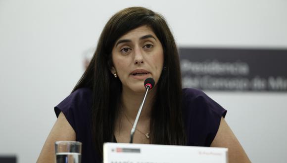 """Ministra Alva señala que la decisión """"muestra de confianza a nuestra solvencia crediticia"""". (GEC)"""