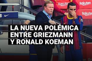 FC Barcelona: la nueva polémica entre Griezmann y Koeman tras la derrota ante el Real Madrid